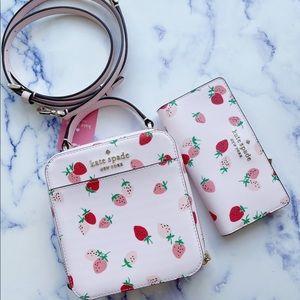 Bundle♠️Kate Spade Strawberries Crossbody & Wallet